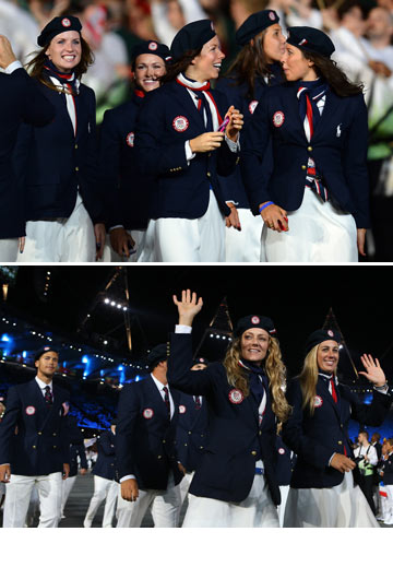 מדי נבחרת ארצות הברית בעיצוב ראלף לורן. זוכים במדליית זהב (צילום: gettyimages)