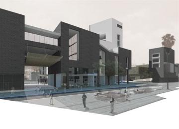 בניין עירייה חדש עם שוק עירוני בטבריה. ההצעה של בלינקוב (הדמיה: איתי בלינקוב)