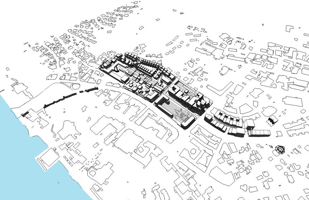 החייאת מרכז העיר טבריה, בשילוב שטחי ציבור, מסחר ומגורים. הפרויקט של איתי בלינקוב, יליד עמק הירדן (הדמיה: איתי בלינקוב)