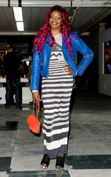 אזליה בנקס בשבוע האופנה בלונדון, 2012 (צילום: gettyimages)