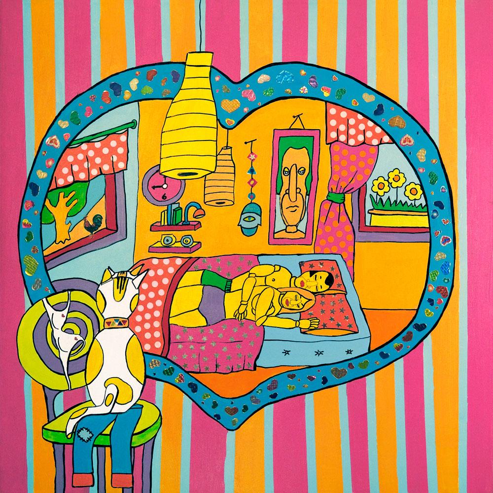 שרית רוטמן, מציירת אופטימיות על קנבס (ציור: באדיבות שרית רוטמן)