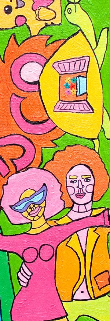 """לצייר את מה שהאדם עוד יכול להיות. פרט מציור, """"2020"""" (ציור: באדיבות שרית רוטמן)"""