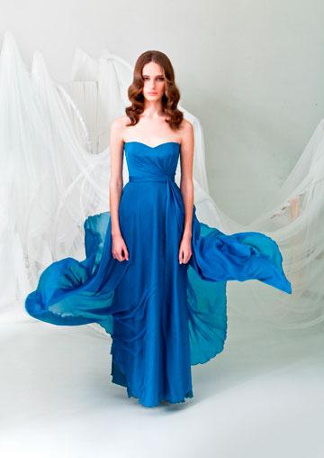 שמלת כלה כחולה של לימור רוזן (צילום: גיא גלעד)