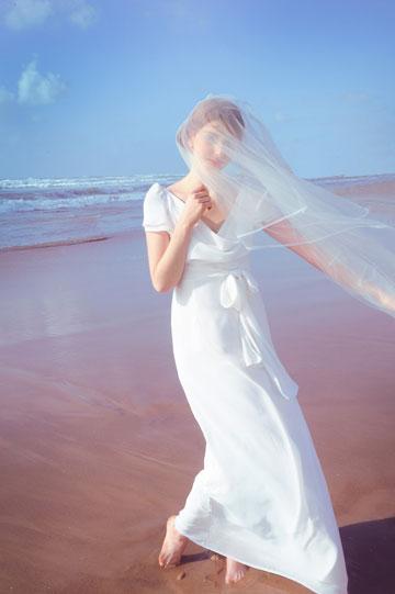שמלת כלה של נעמה בצלאל (צילום: איתן טל)