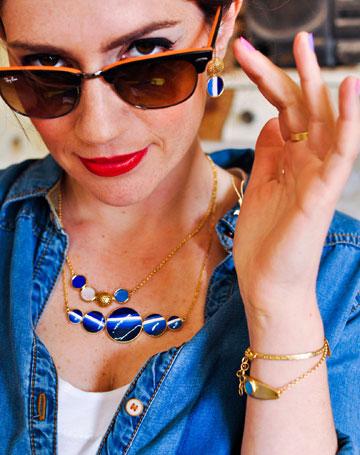 טלי שרון ל-Punchaos. תכשיטים קלים ומגוונים (צילום: מיכל הלפרן)