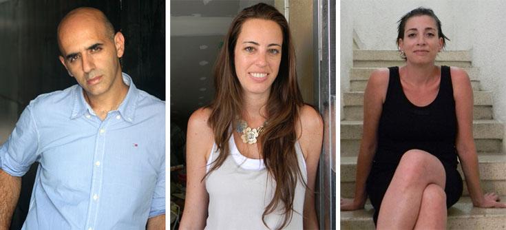 השלושה שהרימו את הפרויקט: דנה ויאנו (מימין), זהר בן לביא (משמאל), ומליסה סמטבנד, שהצטרפה לצוות המשרד אחרי שנגמר הפרויקט (באדיבות BLV)