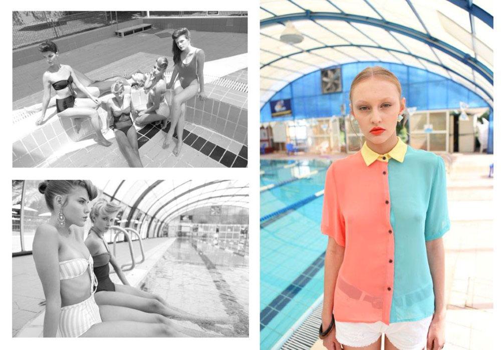מימין: חולצה מכופתרת, לילמיסט; מכנסונים, זארה; חגורה, לילמיסט; משקפי שמש, פראדה למשקפיים בשינקין 9; בגדי ים, אמריקן אפרל (צילום: אייל זלצברג)