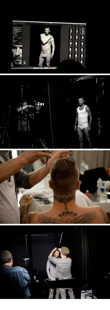 מאחורי הקלעים בצילומי קמפיין ההלבשה התחתונה של דיוויד בקהאם ל-H&M (צילום: אלסדייר מקללן)