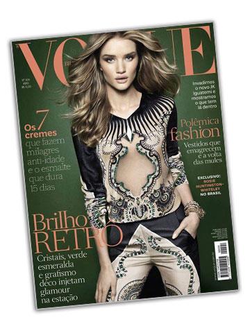 רוזי הנטינגטון וויטלי על שער מגזין ווג ברזיל, אפריל 2012 (שער המגזין)