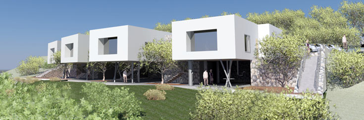 הגן המתוכנן ברמת אלון, חיפה (הדמיה: סמדר רז – רז אדריכלים)