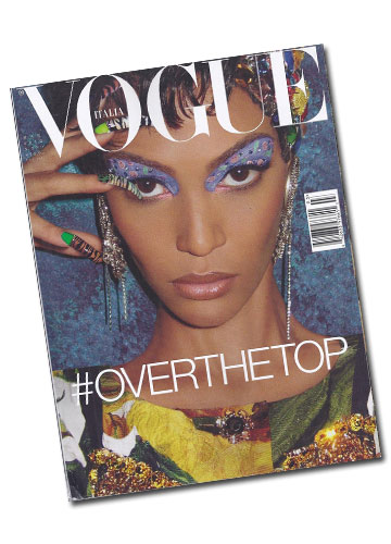 תכשיטים של Noir על שער מגזין ווג איטליה