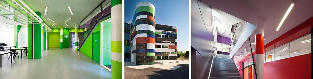 תיכון פיצרוי במלבורן. האדריכלים של mcbride, charlesת ryan, פעלו כאן בשיתוף פעולה עם המורים, התלמידים וההורים ליצירת מוסד יוצא דופן (צילום: John Gollings)