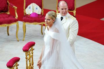 החתונה הכי רומנטית. או שלא. הנסיך אלברט והנסיכה שרליין (צילום: gettyimages)