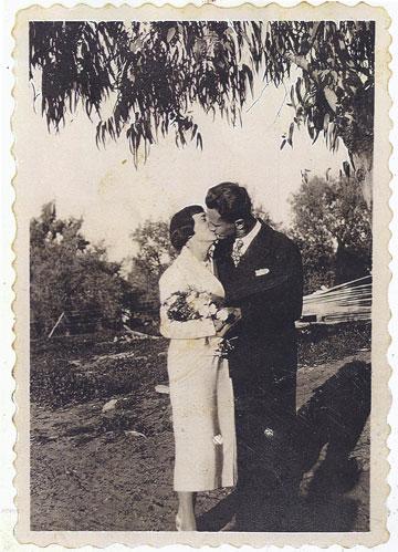 גרדה ושמואל (היינץ) זומרפלד, 1936, ראשון לציון (צילום: גרדה ושמואל היינץ זומרפלד)