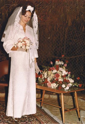 חתונתם של אבי ורבקה בלוך, 1967, חיפה (צילום: אבי ורבקה בלוך)