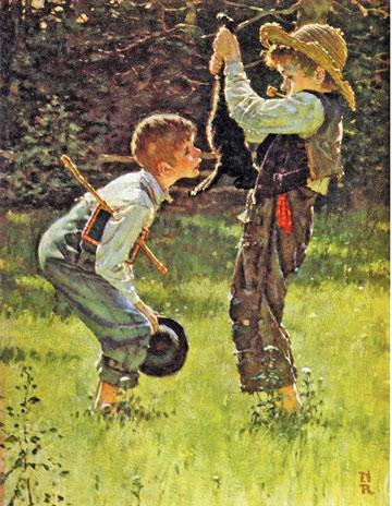 בוא לשחק, ניגר. סוייר ופין בציור של נורמן רוקוול