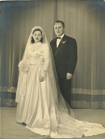 אנה ואברהם פרגל, 1949, בואנוס איירס (צילום: אנה ואברהם פרגל)