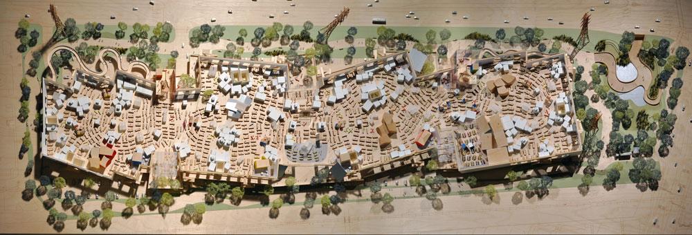 2,800 המהנדסים של פייסבוק יעבדו כאן, במבנה שיחובר במנהרה לאגף הישן (ששימש בעבר את ענקית התוכנה Sun). שום רמז לסגנון האקסטרווגנטי של גרי, הידוע בעיקר ממוזיאון גוגנהיים בבילבאו (למטה) (צילום: Frank Gehry/Gehry Partners)
