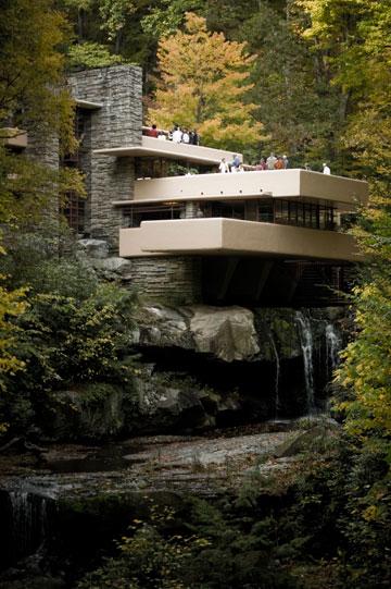 הבית על המפל, פרנק לויד רייט. זו ההשראה (צילום:  Sxenko, cc)