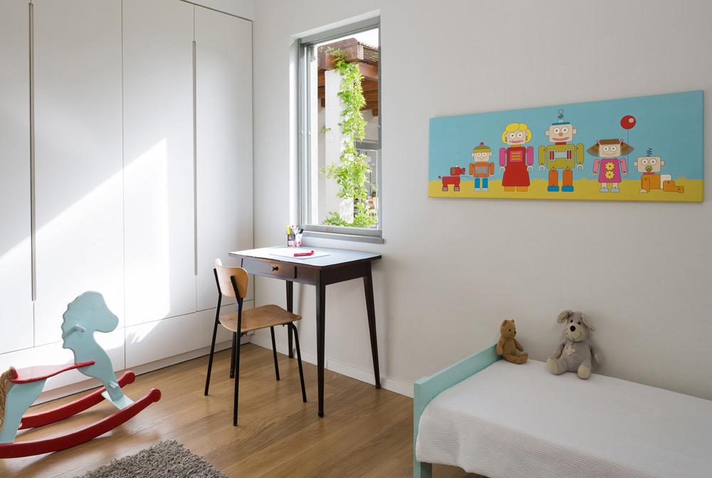 אחד מחדרי הילדים (צילום: שי אפשטיין)