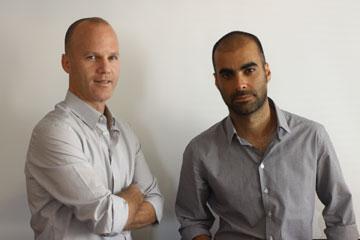 ליאור ציונוב (מימין) וליאור ויתקון. זכייה ראשונה בתכנון קמפוס אקדמי