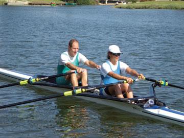 עם המאמן האישי דני רוטנברג (צילום: אליזבט פיינגולד)