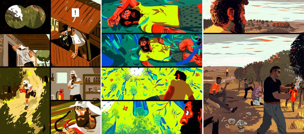 צח ויינברג (בצלאל) הכין את ''אבק ומחטים'. סיפור קומיקס שעוצב לקריאה בטאבלט. מעבר לכישרון העיצוב והסיפור, זו לא עוד אפליקציה דיגיטלית שמעתיקה את הפרינט - אלא כזו שהופכת את הקריאה למעניינת יותר מדפדוף בנייר: השהיות, משחקי פריימים ותעלולים נוספים שיוצרים חוויה חדשה במדיום רווי