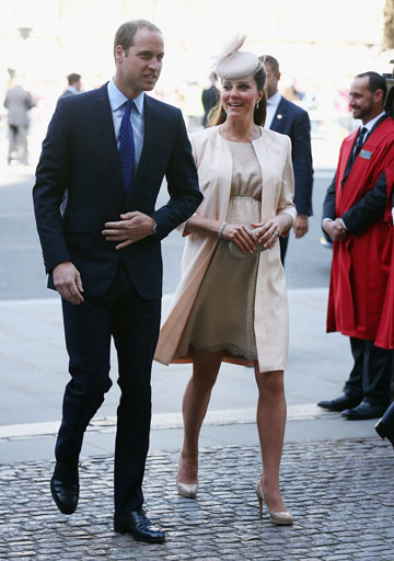 האנטיתזה. קייט מידלטון והנסיך וויליאם (צילום: gettyimages)