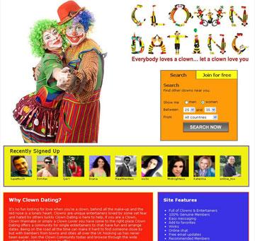 אוהבים אפים אדומים? לא מפחדים מליצנים? האתר הזה בשבילכם! (מתוך: clowndating.com)