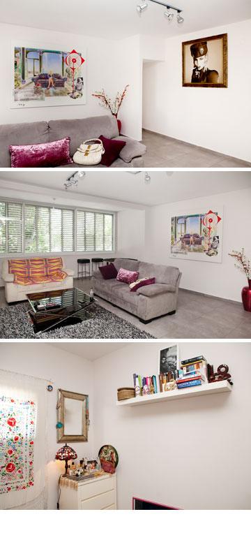 גרה בסמוך לכיכר המדינה בתל אביב. הדירה של פאולינה אלברשטיין (צילום: ענבל מרמרי)
