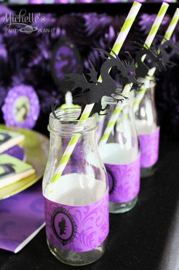 אלגנטית ודרמטית. מסיבת קינוחי מליפיסנט בצבעי שחור וסגול (מתוך michellespartyplanit.com)