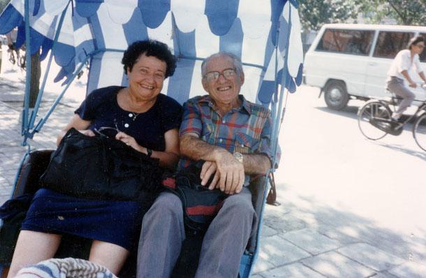 אהבה שהתחילה בגן הילדים. הוגו ורות ראונר (צילום: אסנת לסטר)