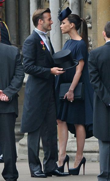 כמעט גנבו את ההצגה. ויקטוריה ודיוויד בקהאם בחתונה המלכותית של הנסיך וויליאם וקייט מידלטון (צילום: gettyimages)