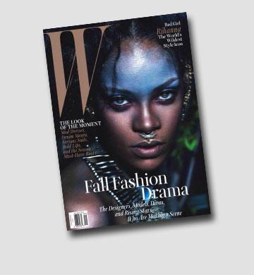 רוקדת עם זאבים. ריהאנה על שער מגזין W
