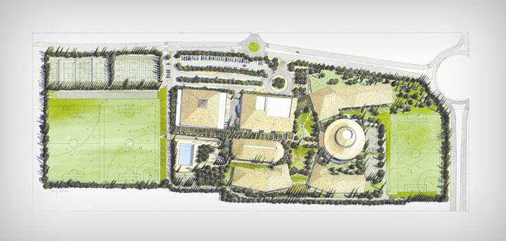 תוכנית בית הספר האמריקאי באבן יהודה (תכנית: פלסנר אדריכלים)