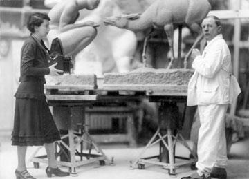 אלזה ארנשטיין סימון-נוילנדר והפסל הוגו לדרר, 1930