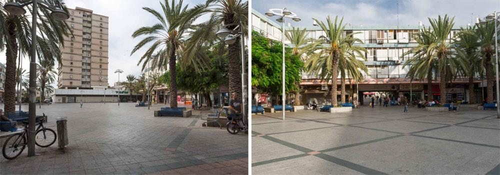 כיכר ויצמן היא המרחב הציבורי הוותיק והמרכזי ביותר בחולון, אך גם היא סובלת מאותה בעיה: שמש ללא מפלט (באדיבות מוזיאון העיצוב חולון)