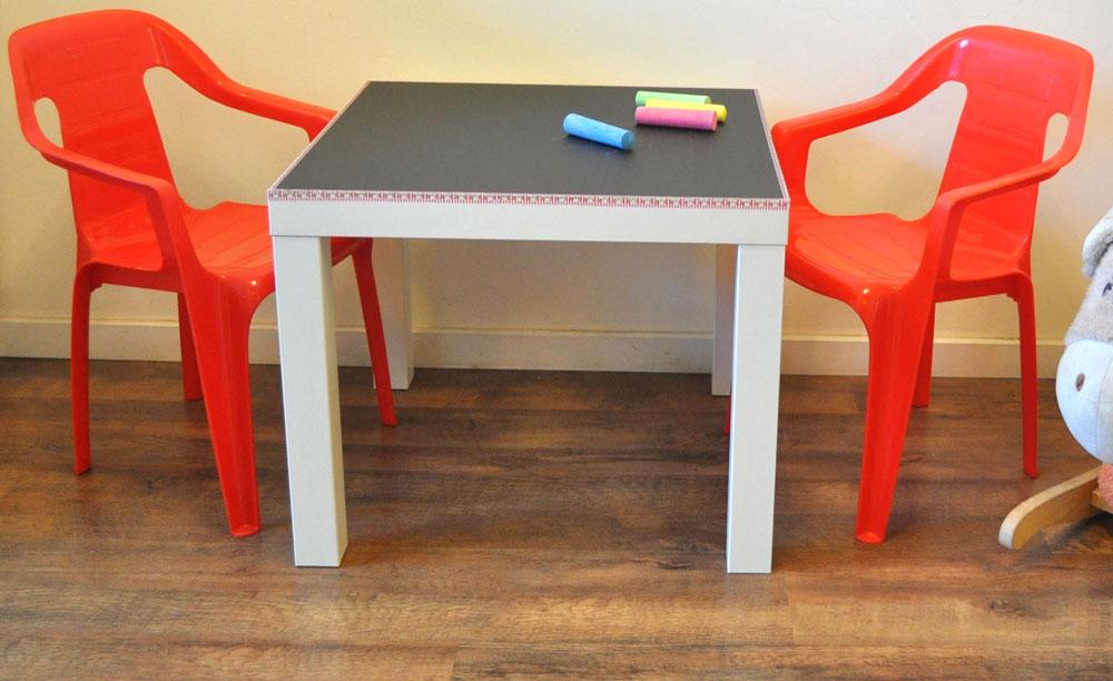 שולחן לוח וגיר. שדרוג מהיר וקל, שמספק לילדים שעות של הנאה ויצירה (צילום: דפי לויאב גופר )