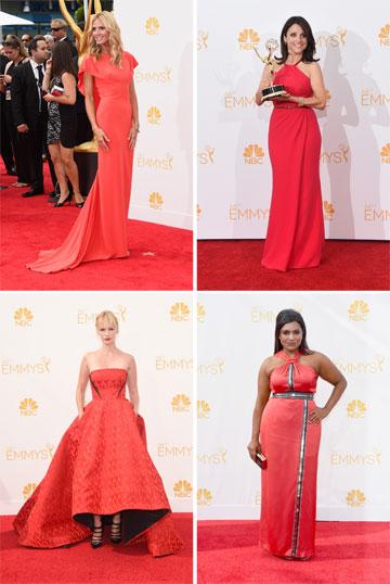 מתאימות את השמלה לשטיח. היידי קלום, ג'וליה לואי דרייפוס, מינדי קלינג וג'נוארי ג'ונס (צילום: gettyimages)