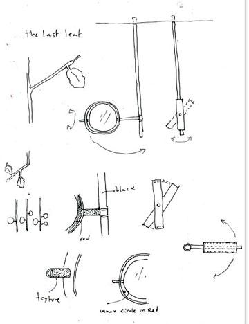 שרטוטים של המראה ( תכנון: אירנה גולדברג ופיצו קדם)