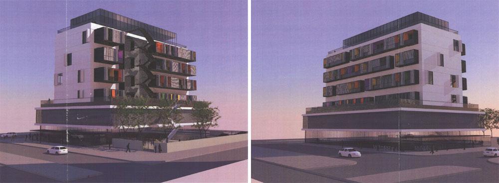 זו ההדמיה של ''בר אוריין'' אדריכלים לפרויקט, שישאיר את מרכז וצפון ת''א ללא תחנת משטרה