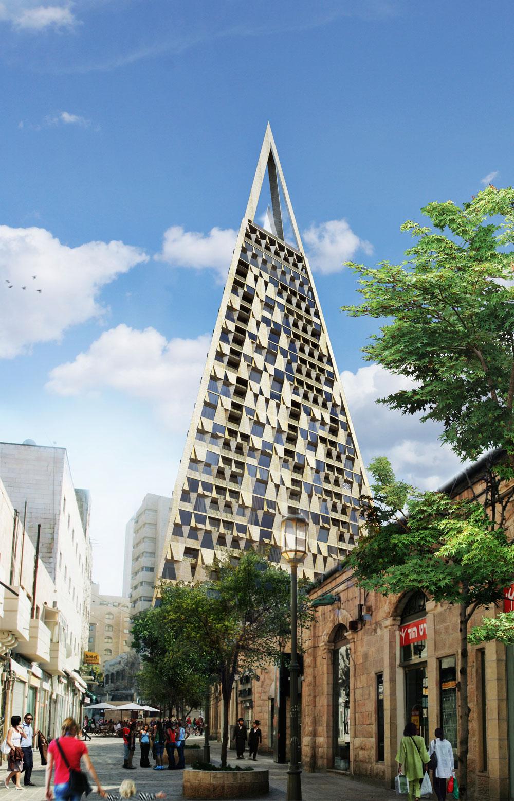 המגדל ברחוב אגריפס. האדריכלים יצטרכו לעצב אותו מחדש (תכנון: Studio Libeskind)