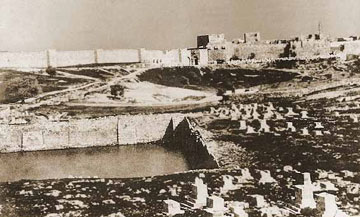 בריכת ממילא, תמונה היסטורית. הוקמה בתקופה הרומית, לפני כ-2,000 שנה (צילום: אוגוסט זלצמן)