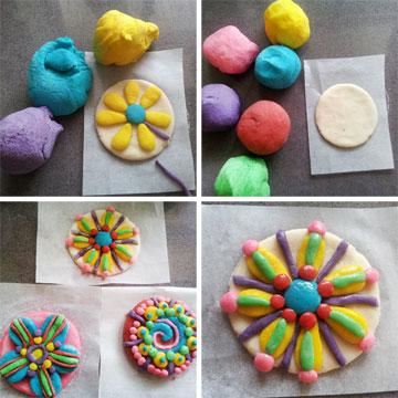 ונותנים לילדים לפסל עוגיות צבעוניות (צילום: ענבל עופר )