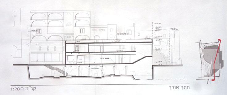 הבניין ירחף מעל הרחוב הרומי שנחשף בחפירות הארכיאולוגיות, כך שמי שירצה לראות אותו - יצטרך להיכנס לבית הליבה