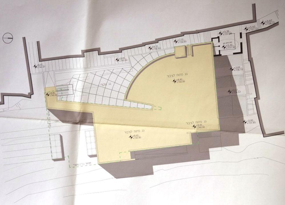 בין השאר יפעל במבנה ''היכל הכיסופים'',  שיהיה מרכז מבקרים בזיקה לקומה התחתונה של הרחוב הרומי - שאליו יגיעו רק דרך הבניין. הגג יהיה פתוח לכולם חמישה ימים בשבוע