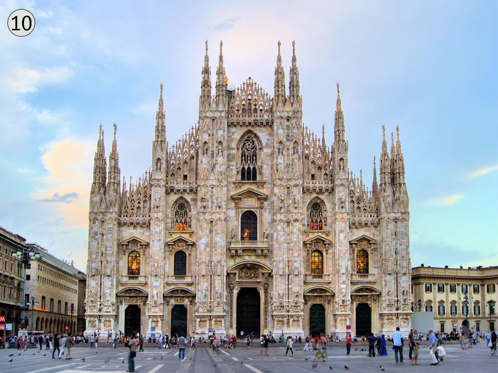 דואומו, מילאנו, איטליה. הבנייה החלה במאה ה-14 והסתיימה במאה ה-20 (צילום: shutterstock)