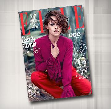 הילדה הרעה שכולם אוהבים לאהוב. קריסטן סטיוארט על שער Elle בריטניה (צילום: קאי זי פנג)