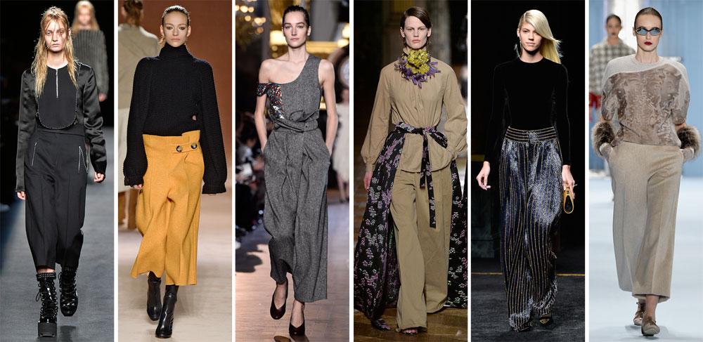 על המסלול: המכנסיים הרחבים משתלבים בכל סגנון, בתצוגות של קרולינה הררה, בלמן, דריס ואן נוטן, סטלה מקרטני, ויקטוריה בקהאם ואלכסנדר וונג (צילום: gettyimages)