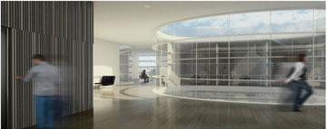 קומה שנייה: פתח בתקרה יאיר את המשרדים (הדמיה: סטודיו aiko)